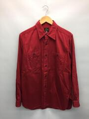 長袖シャツ/S/--/RED/赤