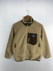 レトロXキッズフリースジャケット/L/ポリエステル/CRM:クリーム/65643FA11