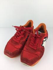 ローカットスニーカー/43/RED;レッド/スウェード/かかと穴/ソール穴有
