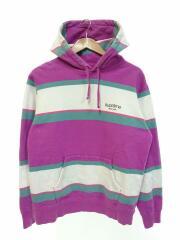 19AW/Stripe Hooded Sweatshirt/パーカー/M/コットン/PUP/ボーダー