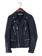Cowhide Leather Jacket/ダブルライダースジャケット/36/牛革/BLK