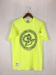 ×WIND AND SEA/LOGO PUFF PRINT-T/Tシャツ/M/コットン/YLW
