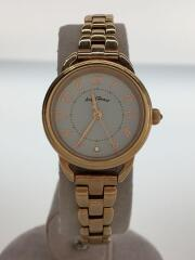 FS25/クォーツ腕時計/アナログ/--/WHT/GLD