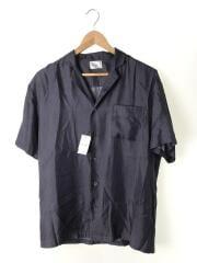 半袖シャツ/2/シルク/BLK/総柄/18-051-310-0002-1-0
