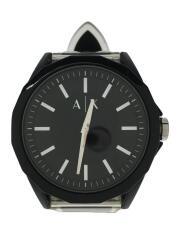 クォーツ腕時計/アナログ/ラバー/BLK/BLK/AX2629/