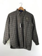 長袖シャツ/XL/ウール/マルチカラー/チェック/ワッペン付き/