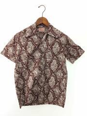 リアルマッコイ/アロハシャツ/オープンカラーシャツ/半そでシャツS/コットン/ブラウン/カウボーイ/