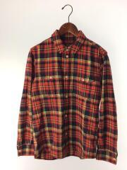 長袖シャツ/XS/コットン/RED/チェック/ネルシャツ/赤/紺/ネイビー/24211-72081