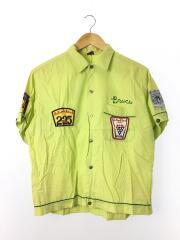半袖シャツ/--/--/GRN/ボーリングシャツ/オープンカラーシャツ/ワッペン/アメカジ/レプリカ