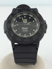 クォーツ腕時計/アナログ/ラバー/BLK/BLK/NAVY SEALS 3001/300本限定/