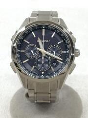 ソーラー腕時計/アナログ/チタン/BLK/SLV/8B92-0AA0/ ブライツ BRIGHTZ/箱