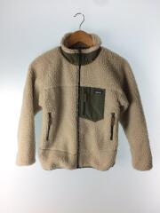 ジャケット/US12/ポリエステル/IVO/無地/アイボリー/パーカー/ジップアップ/キッズモデル