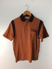 ポロシャツ/M/コットン/BRW/無地/ブラウン/茶色/半袖/半袖ポロシャツ