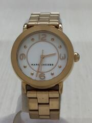 クォーツ腕時計/アナログ/ステンレス/GLD/マークジェイコブス/金時計/レディース
