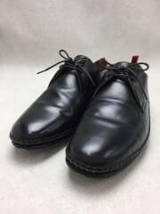 ドレスシューズ/41/BLK/レザー/ブラック/プレーントゥ/イタリア製/フォーマル/革靴