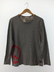 長袖Tシャツ/M/コットン/GRY/グレー/ポールスミス/カットソー/無地/ロゴプリント/メンズ