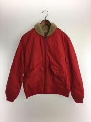 16AW/Quilted Nylon Tanker Jacket/ジャケット/L/ナイロン/RED/無地
