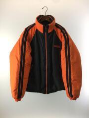 ダウンジャケット/XL/ナイロン/BLK/ファイヤーマンダウン/肉厚/ビックサイズ/ストリート/90s