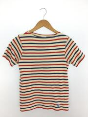 Tシャツ/2/コットン/WHT/ボーダー/