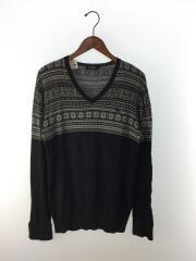セーター(薄手)/3/コットン/BLK