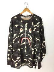 長袖Tシャツ/3L/コットン/GRY/カモフラ