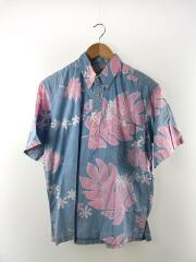 半袖シャツ/L/コットン/BLU