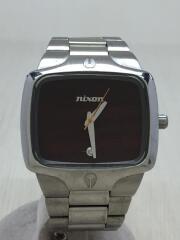 ニクソン/クォーツ腕時計/アナログ/ステンレス/ブラウン/シルバー