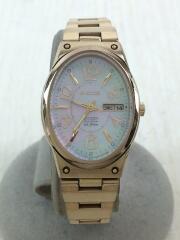 ウィッカ/ソーラー腕時計/アナログ/ステンレス/ゴールド