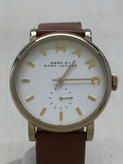 マークバイマークジェイコブス/クォーツ腕時計/アナログ/MBM1316/ホワイト/ブラウン