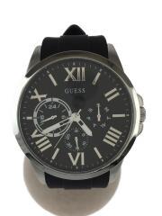 GW0012G1/GUESS WATCHES/箱有/腕時計/アナログ/ラバー/BLK/ブラック/黒