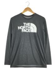 L/S Big Logo Tee/ロングスリーブビッグロゴTシャツ/NT82073/M/長袖/グレー