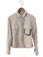 ×FILSON/FISHING SHIRT/フィッシングシャツ/ポケット/S/レーヨン/グレー/長袖シャツ