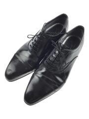 ドレスシューズ/26cm/ブラック/interbasic/ストレートチップ/革靴/黒/BLK/ラバー