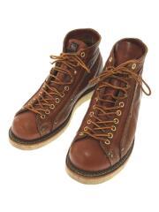 ブーツ/US8/ブラウン/レザー/モンキーブーツ/814-4233/USA製/茶/BRW/革/ヒールロゴ