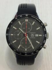 自動巻腕時計/アナログ/ラバー/BLK/BLK/carrera カレラ  バックスケルトン タキメーター