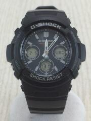 AWG-M100SBL/ソーラー腕時計/デジアナ/ラバー/NVY/BLK/カシオ/G-SHOCK/ウォッチ