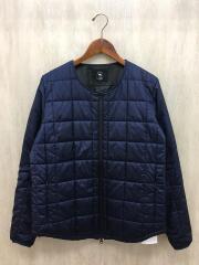 ノーカラーキルティングジャケット/M/ポリエステル/NVY/BG-96703