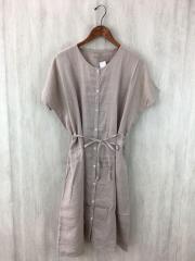 半袖ワンピース/--/リネン/BEG/無地/G140415/ワンピース羽織/麻