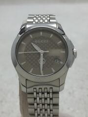 クォーツ腕時計/アナログ/ステンレス/126.5/GG/ロゴ/ビジネス/ゴールド