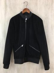 フライトジャケット/S/ポリエステル/BLK