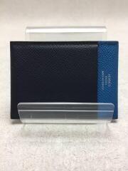 カードケース/レザー/BLU/無地/メンズ