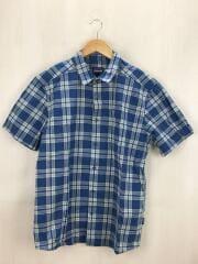 半袖シャツ/M/コットン/ブルー/チェック