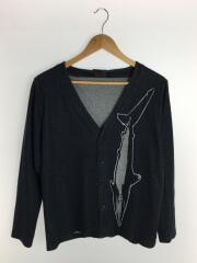 カーディガン(薄手)/M/コットン/グレー
