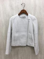 レザージャケット・ブルゾン/38/羊革/ベージュ/101527-10-010-04-380