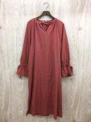 19AW/GATHER VOLUME ONE PIECE/2/レーヨン/レッド/無地