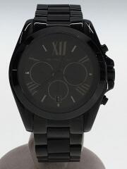 クォーツ腕時計/アナログ/ステンレス/ブラック/ブラック