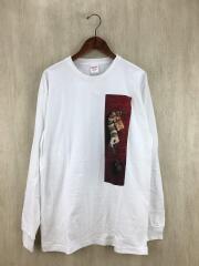 長袖Tシャツ/L/コットン/ホワイト