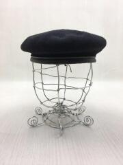 ベレー帽/L/ウール/ブラック