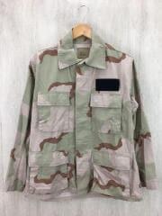 BDUジャケット/長袖シャツ/S/コットン/KHK/カモフラ/8415-01-327-5301