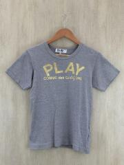PLAY COMME des GARCONS/AZ-T141/Tシャツ/M/コットン/グレー/金箔プリント